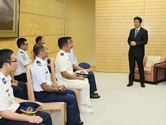 海上保安政策課程第一期生による表敬-平成28年9月12日
