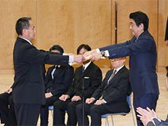 人命救助内閣総理大臣感謝状授与式-平成28年12月12日