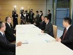 日本労働組合総連合会との面会-平成28年12月22日