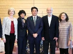 「日本国際賞」受賞者による表敬-平成29年4月18日