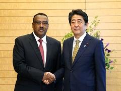デメケ・エチオピア副首相による表敬-平成29年6月12日
