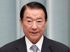 第3次安倍第3次改造内閣閣僚記者会見「江崎鐵磨大臣」