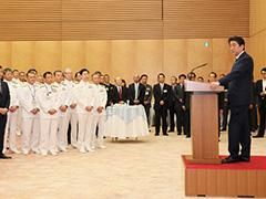 自衛隊高級幹部会同に伴う総理主催懇親会-平成29年9月11日