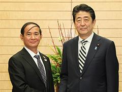 ウィン・ミン・ミャンマー下院議長等による表敬-平成29年12月1日