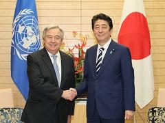 グテーレス国連事務総長との会談等-平成29年12月14日