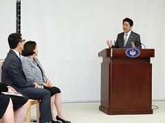 在米日系人リーダー招へい者一行による表敬-平成30年3月5日