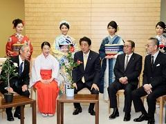 久留米つばきの贈呈-平成30年3月6日