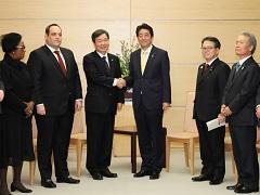 チェBIE(博覧会国際事務局)調査団長等による表敬-平成30年3月6日