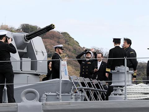 海上自衛隊横須賀基地視察-平成30年3月18日