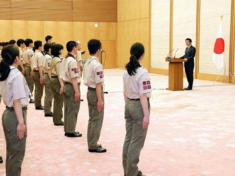 平成29年度 富士スカウト代表による表敬-平成30年3月27日