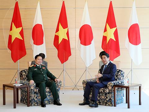 リック・ベトナム国防大臣による表敬-平成30年4月10日