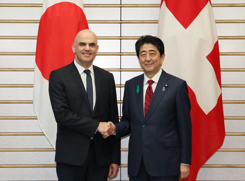 日・スイス首脳会談等-平成30年4月12日