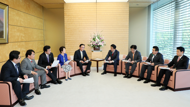 北朝鮮に拉致された日本人を早期に救出するために行動する議員連盟による申入れ-平成30年4月12日