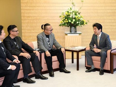 高槻ジャズストリート実行委員会一行による表敬-平成30年4月16日