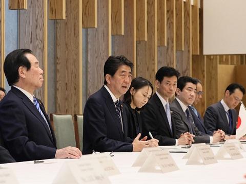 日韓経済協会一行による表敬-平成30年5月14日