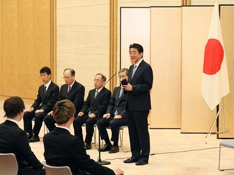 人命救助内閣総理大臣感謝状授与式-平成30年5月16日
