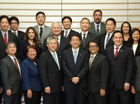 サイキ・ハワイ州議会下院議長一行による表敬-平成30年5月16日