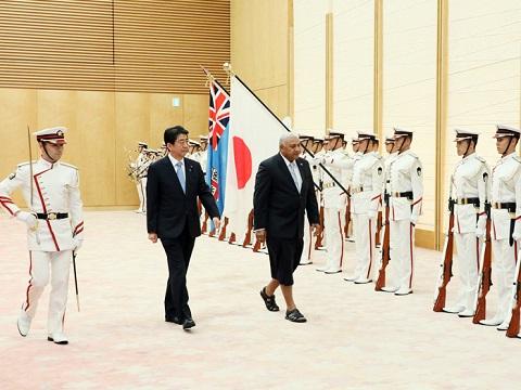 日・フィジー首脳会談等-平成30年5月16日