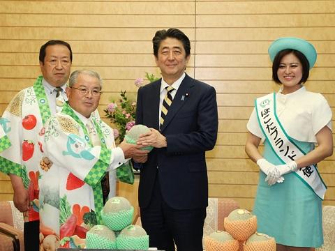 鉾田市訪問団による表敬-平成30年6月1日