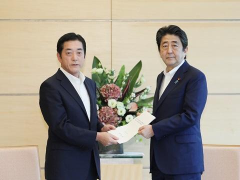 愛媛県知事との面会-平成30年7月9日