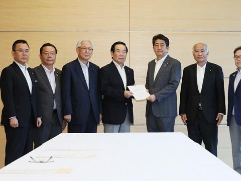 与党による東日本大震災復興加速化のための第7次提言申入れ-平成30年7月27日