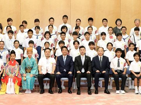 沖縄豆記者団及び函館豆記者団による表敬-平成30年8月1日