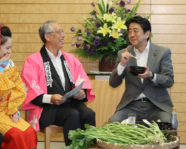 静岡県河津町長等による表敬-平成30年8月3日