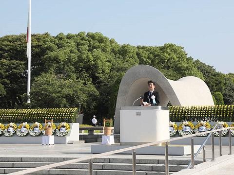 広島市原爆死没者慰霊式並びに平和祈念式参列等-平成30年8月6日