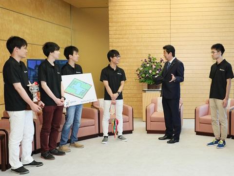 ABUアジア・太平洋ロボットコンテスト2018日本代表チームによる表敬-平成30年8月15日