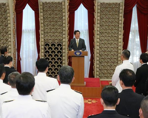 自衛隊高級幹部会同に伴う総理主催懇親会-平成30年9月3日