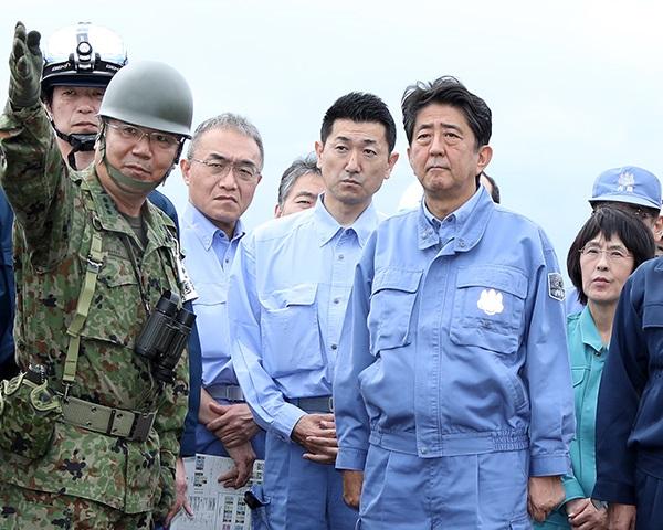 平成30年北海道胆振東部地震による被害状況視察のための北海道訪問-平成30年9月9日