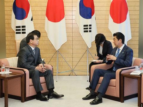徐薫韓国国家情報院長による表敬-平成30年9月10日