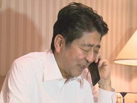 本庶副院長・特別教授へのお祝いの電話-平成30年10月1日
