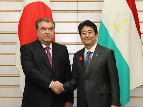 日・タジキスタン首脳会談等-平成30年10月5日