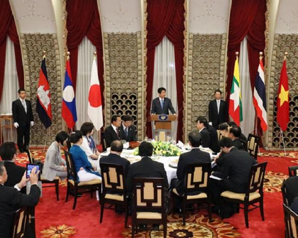 日・メコン地域諸国首脳会議・総理夫妻主催歓迎夕食会-平成30年10月8日