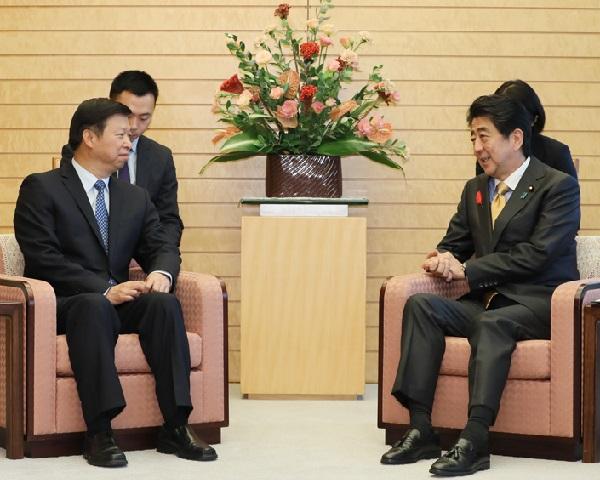 宋濤中国共産党中央対外連絡部部長等による表敬-平成30年10月11日