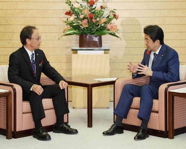 沖縄県知事との面会-平成30年10月12日