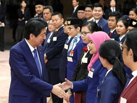 「東南アジア青年の船」参加青年代表による表敬-平成30年10月31日