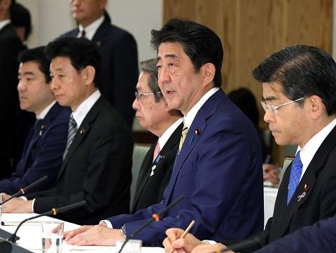 政府与党連絡会議-平成30年11月12日