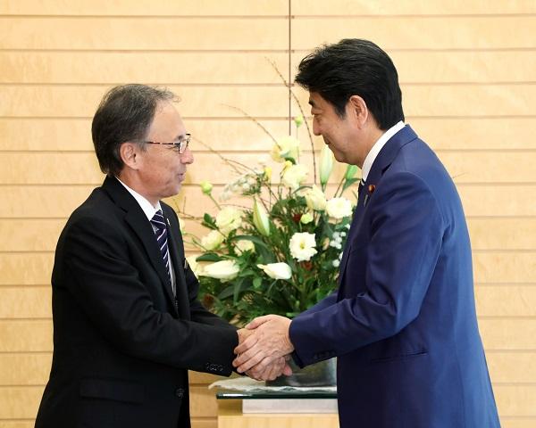 沖縄県知事との面会-平成30年11月28日