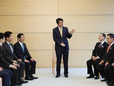 与党大阪選出国会議員による表敬-平成30年12月6日