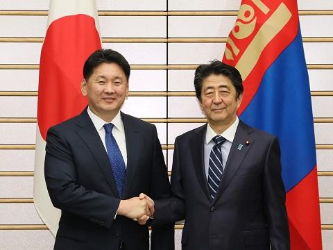 日・モンゴル首脳会談等-平成30年12月13日