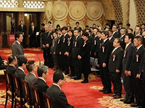 内閣及び内閣府永年勤続者表彰式-平成30年12月21日