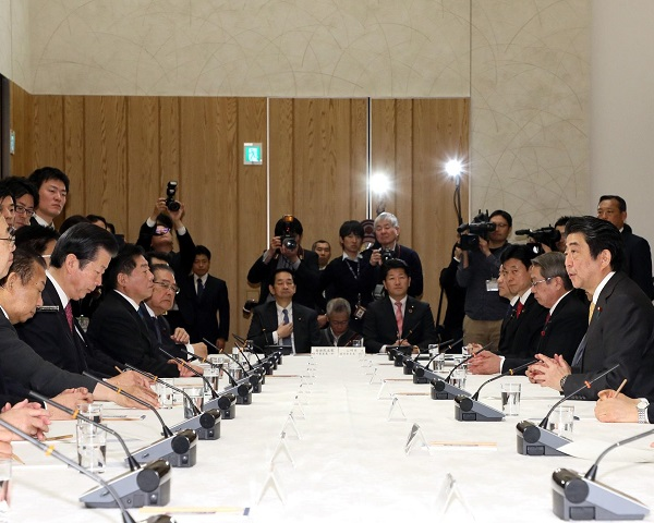 政府与党連絡会議-平成31年1月15日