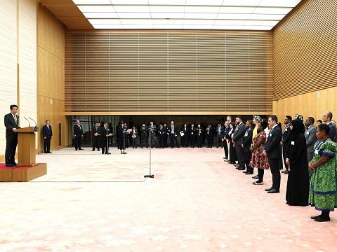 明治150年記念世界青年の船事業参加青年代表による表敬-平成31年1月25日