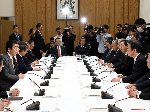 政府与党連絡会議-平成31年2月19日