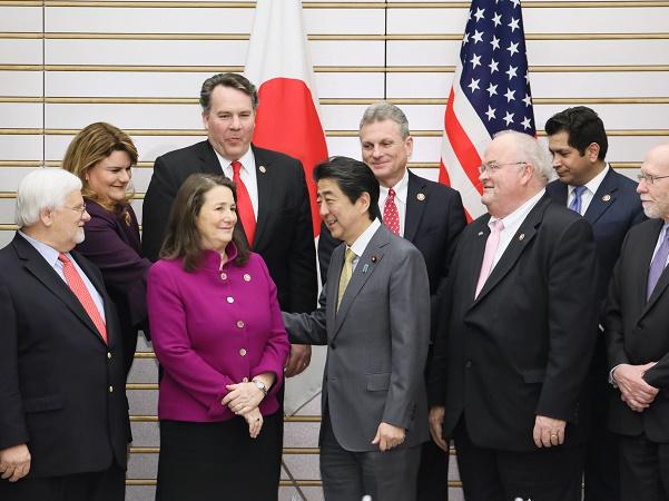 米国議会日本研究グループ訪日議員団一行による表敬-平成31年2月19日