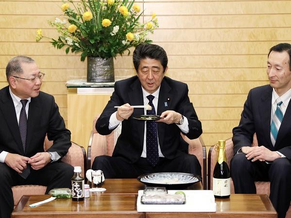 下関ふく連盟等による表敬-平成31年2月21日