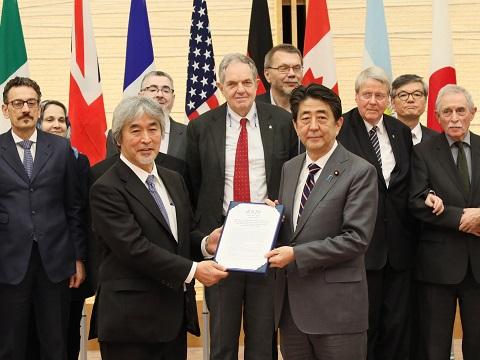 サイエンス20による共同声明の手交-平成31年3月6日