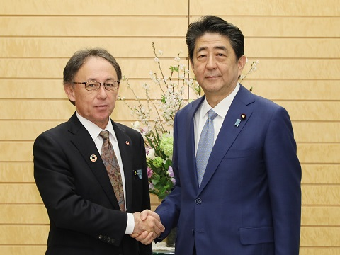 沖縄県知事との面会-平成31年3月19日